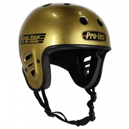 Pro-Tec Full Cut Certified Helmet Gold Flake Large